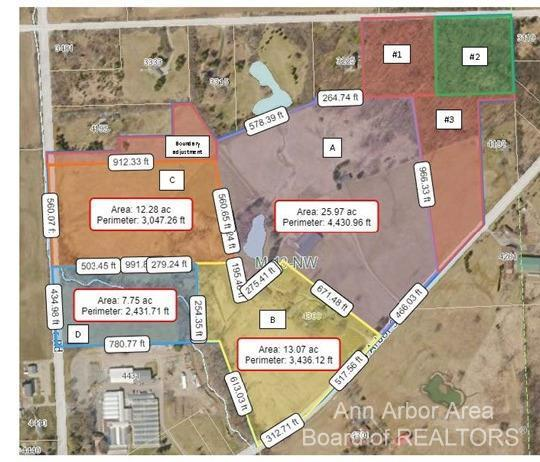 Parcel C - Approximately 12.28 acre lot on Wagner Road. Great location close to shopping, schools, I-94, Saline and downtown Ann Arbor w/ Lodi Township taxes, Ann Arbor Schools. Additional acreage available.
