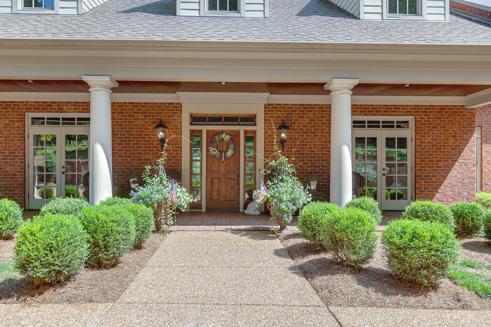 Very Private 3 lot subdivision in Grassland School district. Custom built house that sits on  2.85 acres and was built and designed by an engineer. 5- inch beech floors on the main floor, 2 masters down, beautiful open den and kitchen, both with wood-burning fireplaces, Bedrooms 4 and 5 share a Jack and Jill bath. 4 car garage and a rocking chair front porch to sit and watch all the wildlife. 2600 unfinished walkout basement. 1st showing 10/21/20, at 1:00.
