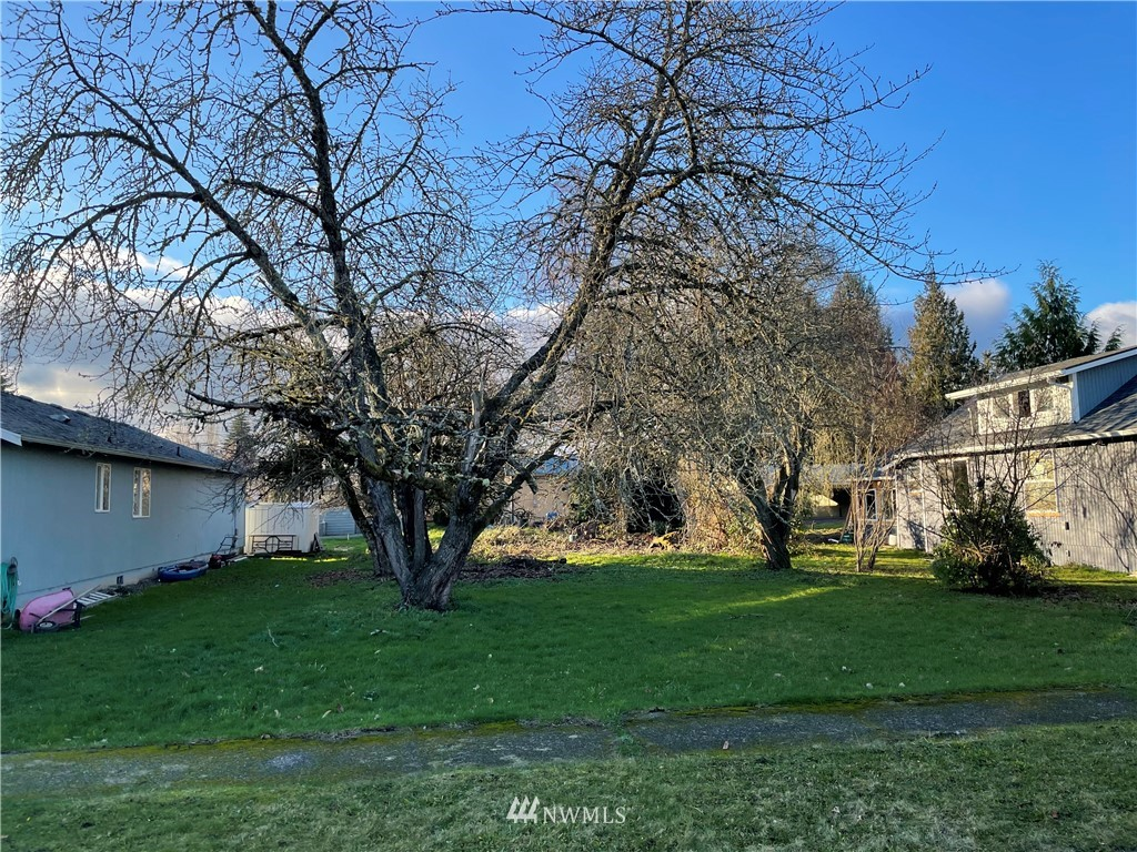 Buildable lot in city limits.  City water and sewer.  Desirable neighborhood and minutes to I-5. Alley access. This lot has been surveyed and recorded with the auditors office but has not been assigned its own parcel number yet.