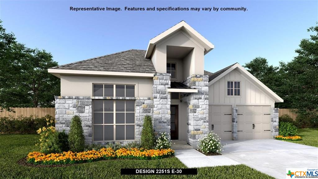 Perry Homes New Construction! Home office located at the extended entry. Kitchen features a 5-burner gas cooktop, an island with built-in seating space and a large corner pantry. Dining area opens to family room with a wall of windows. Large primary bedroom with three large windows facing the back yard. primary bath features dual vanities, a large garden tub, a glass enclosed shower and two large walk-in closets. Extended covered backyard patio. Utility room and mud room off of the three-car garage.