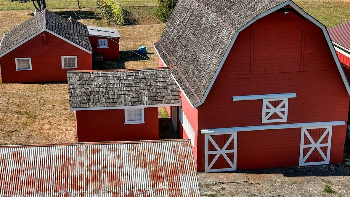 """When you think self sufficiency, you'll appreciate this family farm.  Well kept and spotless single level home with hardwood floors throughout, 10 acres in beautiful fields, loads of outbuildings including 4,500 square foot pole barn, old-style hip roof hay barn, and a four bay machine shed.  A separate irrigation well to irrigate gardens & hay fields, buried 4"""" main irrigation line/risers along with freeze proof yard hydrants. When it comes time to put away your summer harvest, you'll be grateful for the refrigerated meat locker & canning room with its stainless steel workspace & extra hot water heater.  Everything you could need to support your farming lifestyle is on this long term agricultural homestead just 7 minutes off I-5 Exit 88."""