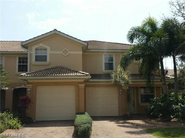 Spacious townhouse located in Estero, Florida. Close to I-75, Gulf Coast Town Center, Hertz Arena, Schools, Churches, Hospital, Restaurants & Entertainment. Located inside Heatherstone at Rookery Pointe - an amazing gated community with world-class recreational amenities! It offers a luxury country club living with low HOA Fees. Amenities include a large community clubhouse with an Olympic-size pool, lighted Har-Tru clay tennis court and a well-equipped fitness room.  This upscale, two-level townhouse features an open floor plan and spacious working kitchen. The first floor features a living room, family room, dining room, kitchen, and a guest bathroom. The second floor has three bedrooms, two bathrooms and a spacious laundry room. The master room is huge and includes a walk-in closet, dual sinks, soaking tub, and walk-in shower. Must-see townhouse and community!