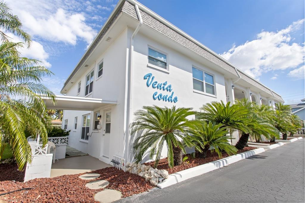 A tiny hideaway one block from the beautiful white sands of Upham Beach. This simple condo lets one drop off their bags and stroll a few hundred yards to fish the intracoastal waterway, or have a cocktail at one of the four or five patio restaurants on Sunset Way. This opportunity will ask buyers to add their own TLC and touches to the place, but all the major items have been done. A brand new 2021 HVAC and updated electrical panel are already installed. And the old carpet is gone, replaced by beach-friendly flooring. Live the beach lifestyle at an affordable price!