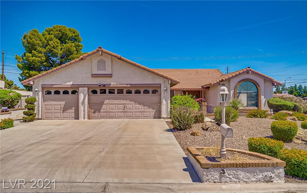 Original owner w so much pride of ownership and great curb appeal! If you are looking for a well-kept single story, retro with lots of character, huge CORNER 10K+SF lot, 4 bdrms, POOL, 3 car garage and NO HOA home, this one is it!! A/C replaced in '14; water softener '20. Spacious living rm with vaulted ceilings & fireplace, separate master suite wing with back door to pool! Separate wing for guest bedrooms/full bath. Original kitchen with so much potential. Amazing backyard, with no one behind! Covered patio with wrap around beautiful yard and huge pool! 3 car garage with storage cabinets! WOW! This home is in great condition with lots of potential and SOLD AS-IS