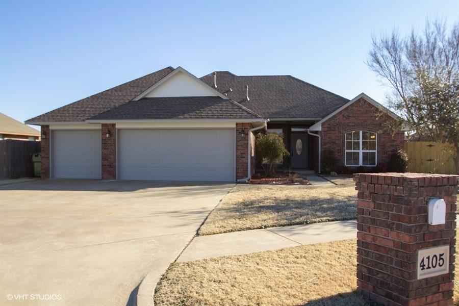3 bed 2.5 bath home with 3 car garage on a cul de sac street in beautiful neighborhood in Yukon, OK. Home features new kitchen appliances, roof, granite countertops, interior and exterior paint, and new carpet in 2019. Great floor plan with a study, fireplace in the living room, center island, pantry and stainless appliances in the kitchen, large bedrooms, Jack and Jill bath between beds 2 and 3, en suite master bathroom with double vanity sinks and separate tub and walk in shower, large walk in master closet, good sized laundry room with sink and built ins, and a great backyard with covered patio, shed and privacy fence. Make an appointment for a private showing today. Buyer to verify all information.