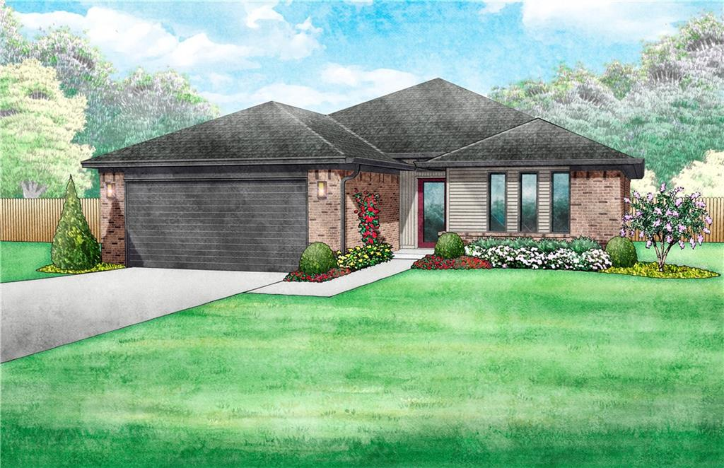 This brand new, contemporary style 3 bedroom home offers an open living/dining layout with an indoor utility/mud room and outdoor covered patio. The kitchen features stainless steel appliances with a gas range, microwave, glass tile backsplash, quartz countertops, and a breakfast bar. The home boasts a HERS score of 61, guaranteeing you lower heating/cooling bills all year long! This home is scheduled to be completed in Spring 2020. Full fencing and landscaping. Mustang Schools.