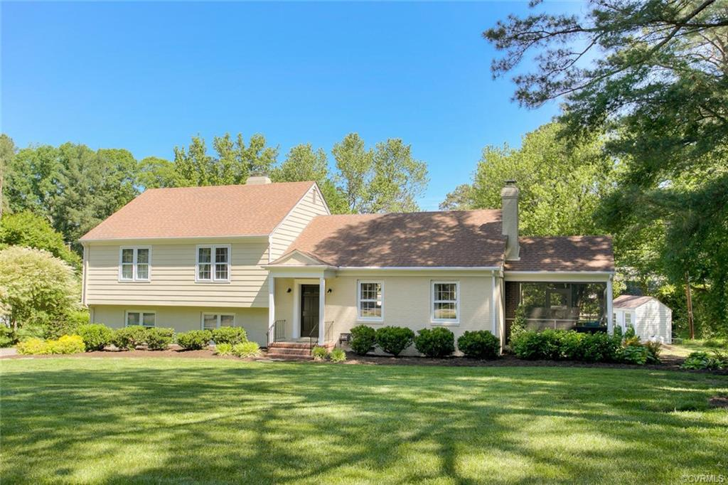 """This home is a must see. The first floor kitchen/dining room/living room combination is straight out of a designer magazine. The kitchen features custom 42"""" white and gray cabinets, Kitchenaid Stainless Steel appliances featuring a 36-inch six burner stove, honed granite and marble countertops, farmhouse sink, separate bar sink with disposal, tile backsplash, large pantry and custom lighting. Off the kitchen is a large, tiled screened porch perfect for enjoying those Spring and Fall evenings. Upstairs there are 4 spacious bedrooms including a master suite with tile standup shower. The downstairs features a huge, renovated family with custom oak built in shelves and drawers, modern gas fireplace, perfect for movie night. Also, in the basement is a large tiled mud room with 2 storage closets, washer/dryer, utility closet and a tiled 1/2 bath. There are also 2 rooms perfect for an office and a studio/art room. The home features 2 heat pumps replaced in 2013,  a gas boiler backup and even a heated conditioned crawl space. A 2-car garage and oversized yard on a quiet cul-de-sac, walking distance to Collegiate School."""