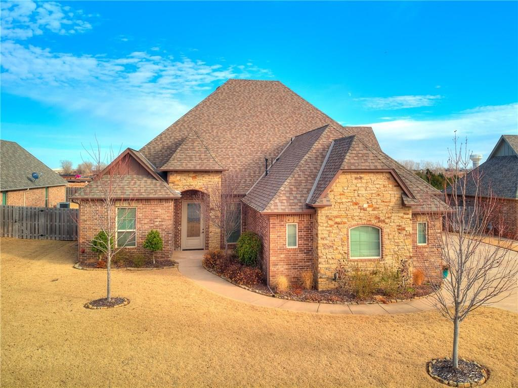Welcome home to your Open, Split floor plan w/ 4bed, +study, 3bath, 3 car garage w storm shelter on 1/4 acre mol in sought-after Belmont Farms/Park neighborhood w community pool, park, pond & walking trails. Gourmet kitchen w 5 burner gas cooktop, external vent hood, island, breakfast bar, walk-in pantry, granite, eating area & built-in desk for meal planning or managing work. Wood floors in Formal Dining, Foyer & Living. Master suite has coffered ceilings, jetted tub, walk-in shower, double sinks, granite counters & spacious walk-in closet w built-in double dresser. Each bedroom has walk-in closet & adjacent or attached bathroom w granite counters. 2nd & 3rd  share a Jack n' Jill bath w large double vanities. 4th bed has walk-in closet & adjacent full bath. Study/optional 5th bed is off the foyer. Private backyard w/ no neighbors behind. Radiant Barrier used for energy eff. Beautiful stair case leads to the unfinished bonus w half bath (571 sq ft mol), if finished=3284 sq ft home mol.
