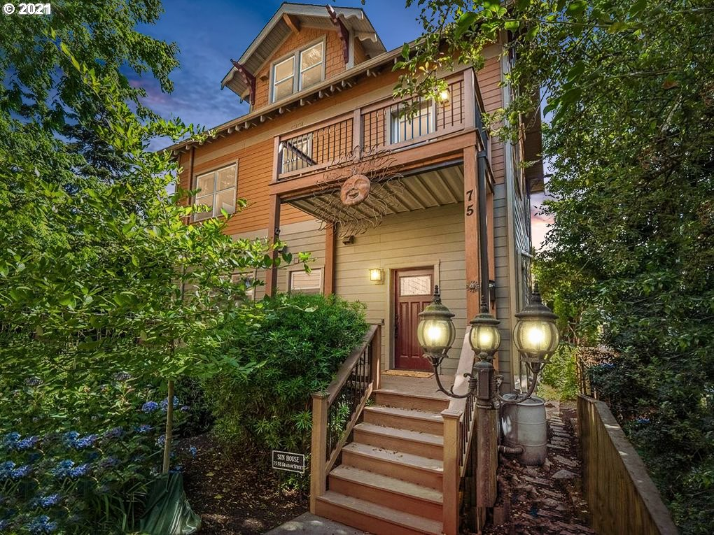 Live your best life in this stunning craftsman style home! Luxurious bamboo floors with open beam ceilings on main level. You'll love the gourmet kitchen with granite countertops, heated floors & stainless steel appliances. The lower level offers a separate living quarters with a proven income generating AirBnB. 3 decks with city views! The home is located near a variety of shops and eateries with walk/bike scores 92/98. Energy efficient with a HES score of 9 ensures low cost on utility bills. [Home Energy Score = 9. HES Report at https://rpt.greenbuildingregistry.com/hes/OR10192108]