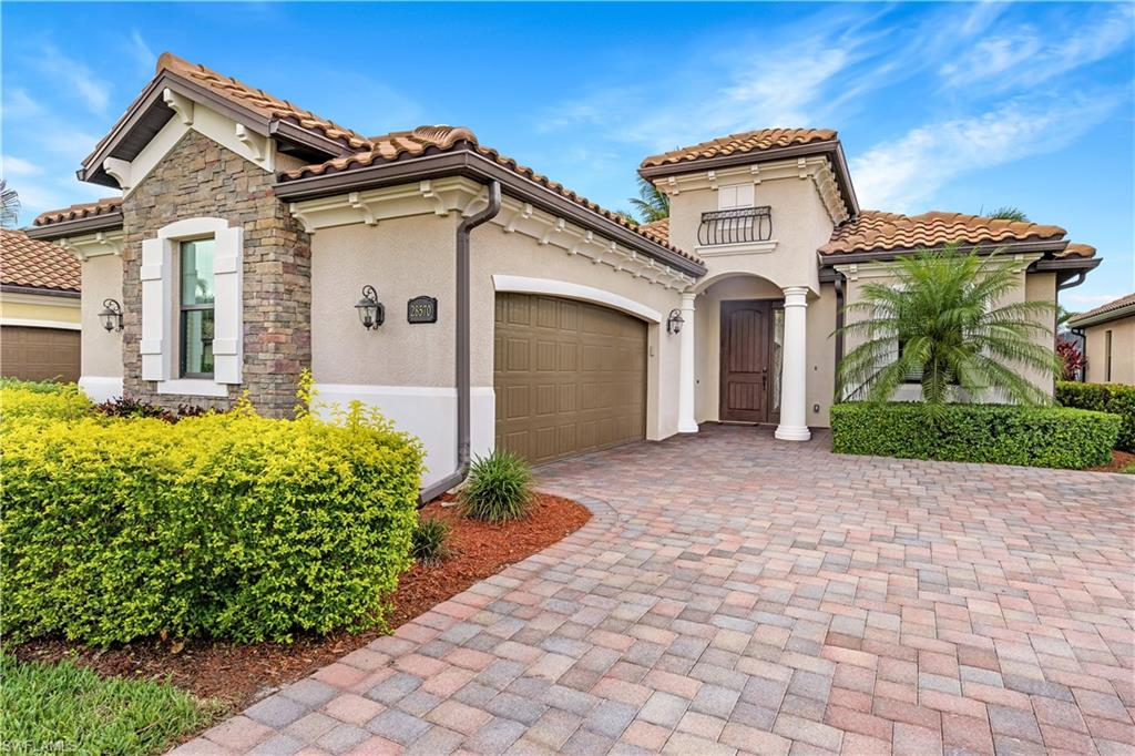 This highly sought after, well cared for Victoria model with GOLF is now available.  This home is located in Bonita National which is known for their resort style amenities: golf, aqua range & putting green, pro shop, 4 community pools (or customize your own), 3 restaurants, Tennis courts, gym & spa. The western exposure backs to hole 11 on the Gordon Lewis golf course.  The lanai has an outdoor kitchen.  The home has over $30k in upgrades including Sonos surround sound, sunshades and much more.  The home includes a nicely appointed kitchen with GE appliances.  The large great room, kitchen and dining room combo, makes this home a wonderful place to entertain family and friends.