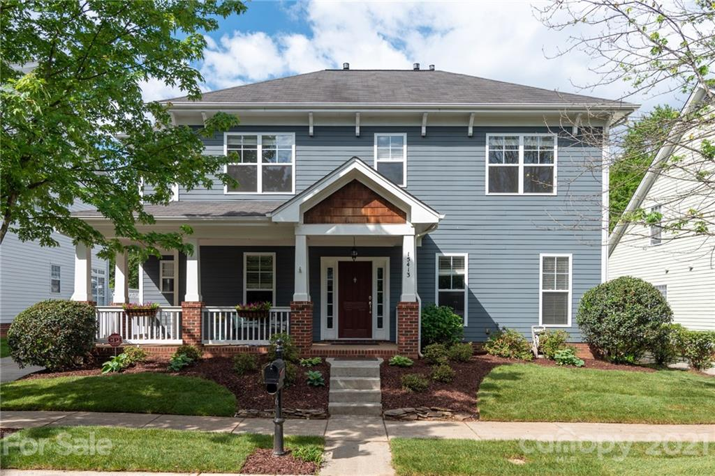 Great Saussy Burbank home in popular Monteith Park with rocking chair front porch. Wonderful floor plan with new finishes throughout the entire home including all new paint, new premium vinyl flooring in all the first floor living areas and new carpet on the second floor. This home has FOUR full baths. The office on the first floor, which has direct access to a bath and closet, can be converted to a 5th bedroom if needed. The Great room, with fireplace, opens to the breakfast room and kitchen which has granite countertops, tile backsplash, and new range and microwave.  The upper level has the Master Bedroom with walk in closet. Master Bath has a garden tub and separate shower. In addition there are 3 bedrooms and 2 full baths. The front and rear lawns have new landscaping and the fenced rear yard is perfect for outdoor actives. A detached double garage is the finishing touch on this great move-in ready home. Submit highest and best offer by 5:00 PM EDT Monday May 10, 2021