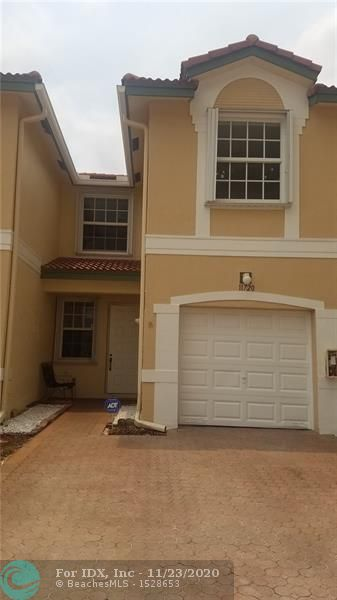 Must see- Beautiful upgraded townhouse. 3 bedrooms/ 2 & 1/2 bath, located in the best are in Coral Springs with great schools! Upgraded kitchen with brand new dishwasher and new kitchen appliances. Upgraded bathroom, has wood flooring on the 1st and 2nd floor & a great patio! 1 car garage with brick paved driveway & accordion shutters. Wont last!! Gated community with a community pool.