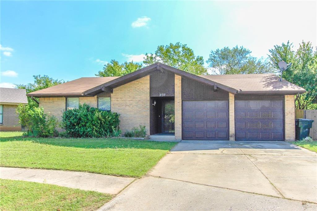 Great location. This 3 bed, 2 full bath is close to shopping, restaurants, and I-35.  You will love the large living area with a wood burning fireplace, spacious kitchen with real wood cabinets, and the new vinyl plank flooring and carpet.  Also has a new furnace and new sliding backdoor.  So much potential with private backyard that backs up to mature trees.  Check out this home down in a quiet cul-de-sac and just around the corner from the neighborhood park.