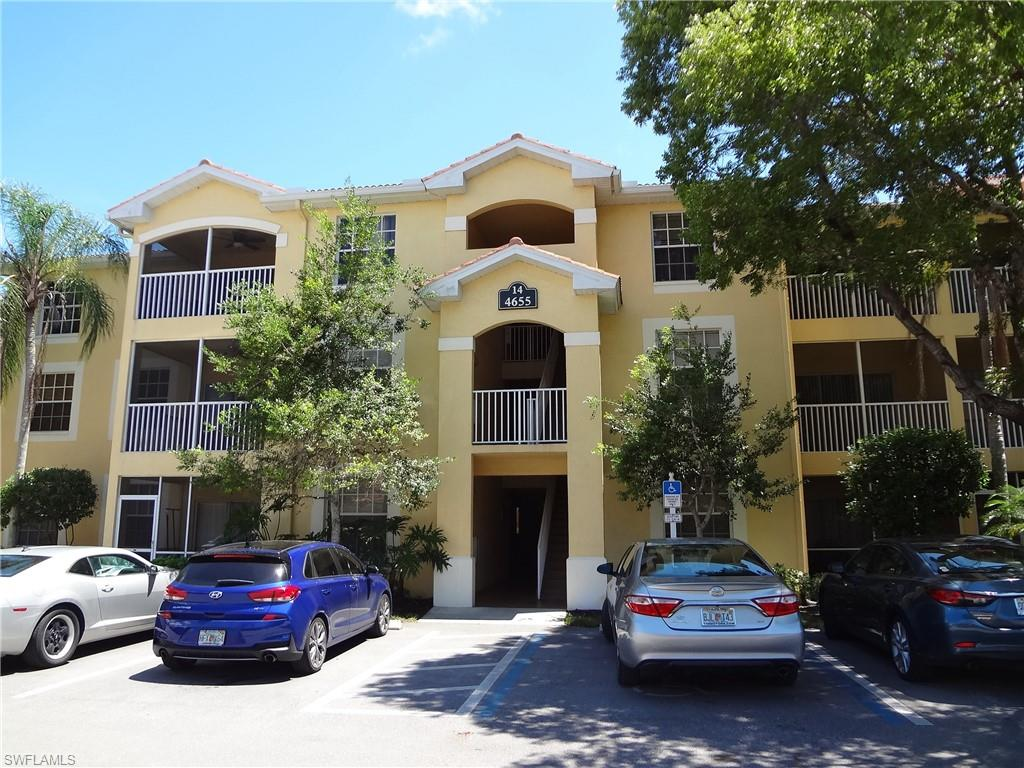Grab this little gem while you can!  The condo is in a prime location and super-close to upscale shopping, dining, Mercato, hospitals and Naples' famous white sandy beaches. I75 is minutes away and Ft Myers International Airport is about 20 minutes away. The location boasts top rated schools - Barron Collier High, North Naples Middle and Pelican Marsh Elementary. Sun 'n Fun Lagoon and North Collier Regional Park are just around the corner. This unfurnished first floor condo has a new air conditioner/HVAC unit and new carpet.  Bamboo flooring in the dining area, custom blinds for the patio door leading to the ample screened lanai and the bathroom has been remodeled. St. Croix is a gated, resort style community with pool/spa, fitness center, tennis/pickleball, playground, vehicle wash area, RV/boat parking area and doggy play area – yes pets are welcome here!  Fees here are super low compared with others in the area at just $825/quarter. Perfect for investor, seasonal or year-round living. Currently, there is a tenant in place on a month-to-month basis who may want to continue with the tenancy, so this home has great income potential.