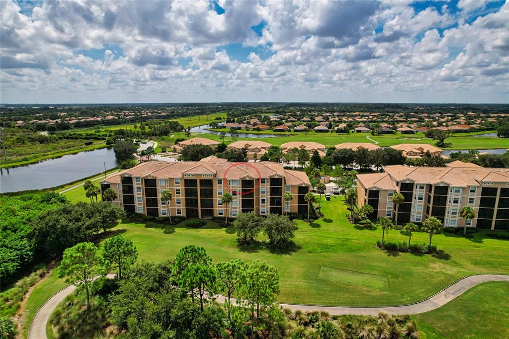 Inside the gates of River Strand Golf & Country Club you will find this spectacular fourth floor condo with sweeping views of the golf course. Move in ready, no detail has been overlooked. Tile and crown molding found throughout. A perfect Florida retreat, just bring your clubs as this unit includes a golf membership. River Strand Golf & Country Club is a warm and friendly community with a 27-hole Arthur Hills designed golf course, 9 Har-Tru Tennis Courts, 8 Pickleball courts, 2 Resort-Style Pools, 6 Satellite Pools, Clubhouse with restaurant, social events, Community Center & 2 fitness centers in this luxury gated community with 24 hr. security & lawn maintenance. Convenient location to I-75, University Town Center, & beaches complete the package.
