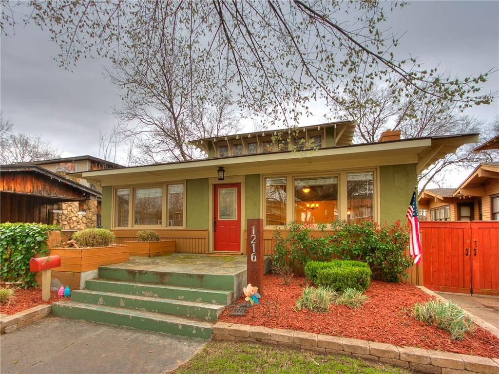 Don't miss out on this beautiful 100 year old bungalow surrounded by several city parks and located near both the Paseo and Asian Districts in the heart of Oklahoma City, This home has so much original historic charm including hardwood floors, two brick fireplaces and original built ins. The updated kitchen has exposed brick and plenty of space for anyone who loves to cook. If you need four bedrooms, this house has it! If you need three bedrooms and a playroom, study or second living area that works as well. With a fantastic front porch and a huge backyard, either are a great place to enjoy Oklahoma evenings. This house is ready to be seen so schedule your showing today!