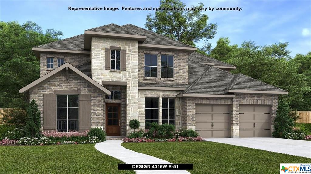 PERRY HOMES NEW CONSTUCTION! Elegant two-story design featuring a 20-foot rotunda ceiling. Home office with French doors and formal dining room set at entry. Spacious family room with a 19-foot ceiling and a wall of windows. Kitchen features a large island with built-in seating space, walk-in pantry and a Butler's pantry. Private primary suite boasts a curved wall of windows. Primary bath includes a garden tub, separate glass-enclosed shower, dual vanities and two large walk-in closets. Downstairs guest suite with a full bath and walk-in closet. Upstairs game room with an adjoining media room. Secondary bedrooms, a linen closet and a Hollywood bath complete the second floor. Extended covered backyard patio. Mud room just off the three-car garage.