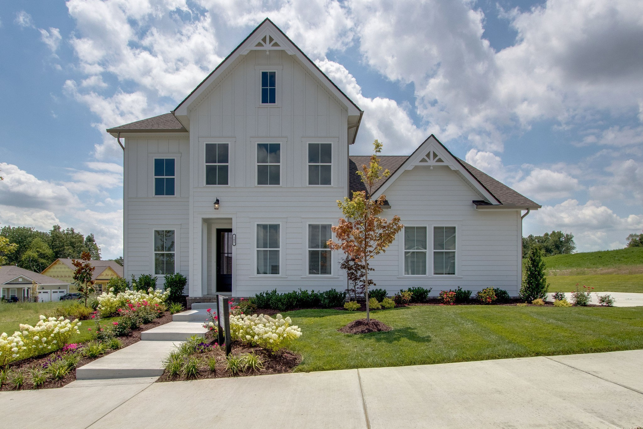 Beautiful new 5br Home in quiet, private neighborhood. 2 Master Suites, 2 br down plus study, Bonus rm has 2 sections, Covered front and back porch. 10' clgs down, 8' doors, Quartz everywhere, private back yard, 3 car Garage, Lots of tile and hardwood, Separate study down, Upgraded appliance pack, Exterior fireplace Photos are of like floor plan, different house Franklin Synergy will pay up to $6000 in buyer's cc under approved conditions