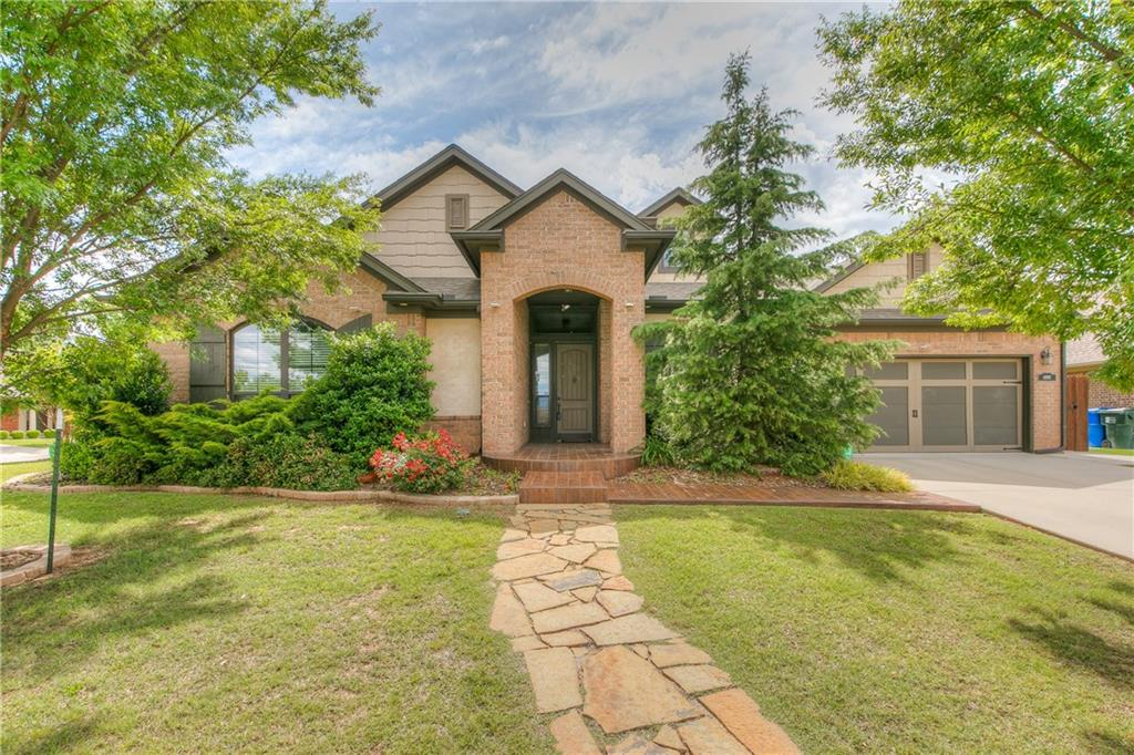 Wow, check out this beautiful, updated home in the heart of Norman! Open floor plan, great for entertaining! Oversized executive office with floor to ceiling bookshelves. Spacious kitchen fit for any chef! Oversized island with eating space, stainless steel appliances, gas grill and walk in pantry! Private master suite with full bath, his/her vanities, whirlpool tub and walk in closet. Enjoy your own private oasis outdoors with a custom gazebo, extended patio and remarkable landscaping! No detail left behind... large 10 person storm shelter in garage floor. Neighborhood features a pool and recreational space. Hurry, this one won't last long!