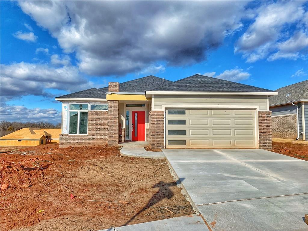With the ultimate open concept, this Chisholm Creek Farms home offer a wide open main living space with the kitchen island over looking the dining room, which flows seamlessly into the living space with linear gad fireplace in a sleek modern design. A flex space off the entry could serve as study, playroom, or a variety of family needs. You'll love the generous master bedroom space, opening through double doors into the master bath with double vanity, large walk in closet and separate shower and tub. The many extras include a sprinkler system, wood tile flooring in main living, study and kitchen; tankless water tank, LED lighting, low e windows, quartz countertop, and a beautiful upgraded backsplash! This home includes many green conscious features, and resides in a desirable community offering. Welcome home!