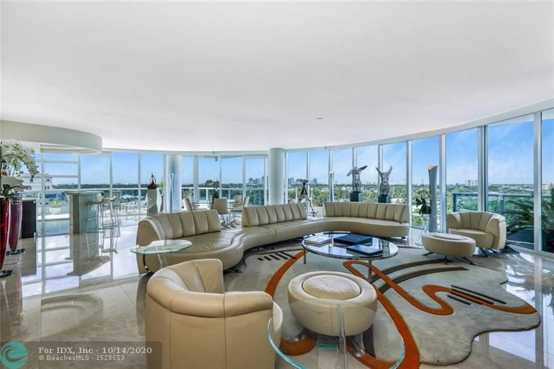 Enjoy luxury waterfront living in the highly sought-after boutique building, LaRive. Directly on the Intracoastal in Ft. Lauderdale Beach's hottest neighborhood! This beautiful contemporary building, designed by renowned architects, GarciaStromberg; hosts 36 condos. Enter this AMAZING Unit through your private foyer and you'll be delighted by the floor to ceiling windows featuring expansive city and Intracoastal waterway views. Take-in spectacular sunsets from your private terrace . Watch the parade of boats on the Intracoastal from your home or the newly renovated lush pool deck & lounging area and BBQ center. Only steps away from the sand of Ft. Lauderdale Beach, restaurants, shops, hotels.  ONLY UNIT AVAILABLE IN THE BUILDING WITH BALCONY AS LARGE AS THIS ONE!