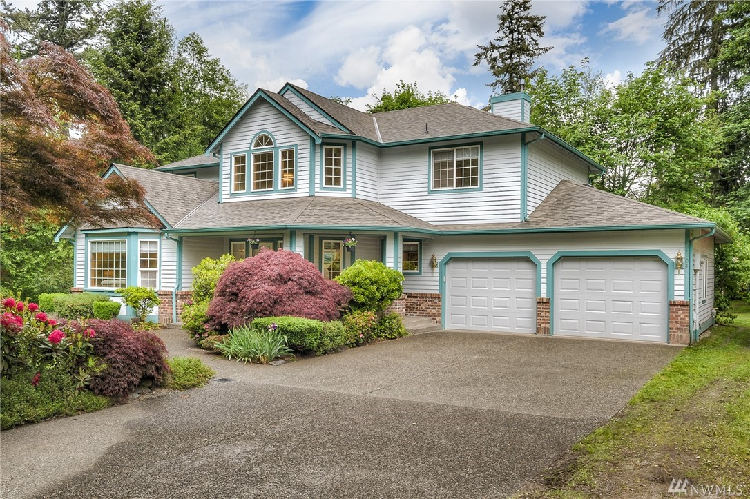 LOCATION! Beautiful Home in Maple Valley. On over 2 acres w/NO HOA, room to expand/build or relax & enjoy the privacy. Updated and well-maintained home. 4 bed/3 bath, w/master suite, family room, formal dining, huge walk in pantry, kitchen w/breakfast bar & eating area. Park like yard is gorgeously landscaped, walk around pathway, entertaining back deck & covered front porch. Storage sheds, RV Parking & room for large shop. Private dead-end road w/easy access to HWY 18 & MV HWY. Tahoma Schools.