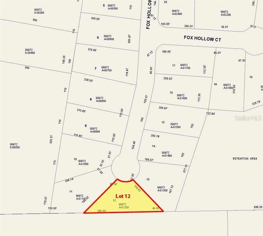 Lot 12 Fox Hollow Drive, Hampton, FL 32044