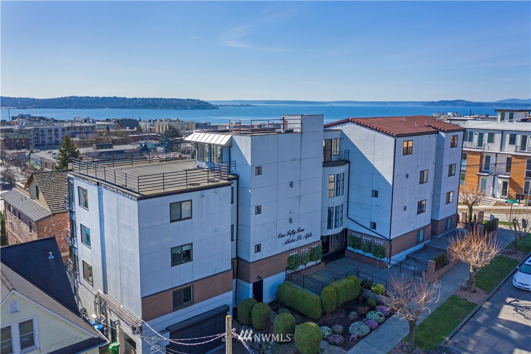 The 155 Aloha Street Apts is a trophy asset that lies on a large corner lot on the south slope of Queen Anne, one of Seattle's most coveted multi-family locations. The 1989 construction building is comprised of 9 large 2BD/2BTH units that are 1,216-1,246 SF and a top floor penthouse unit that is 2,250 SF featuring a large private deck with panoramic views of Capitol Hill, Downtown Seattle, the Space Needle and Elliott Bay. The 155 Aloha Street Apts has been well-maintained and presents an investor with significant rental upside after completing minor cosmetic upgrades. The property features copper plumbing and additional newer building systems along with a large secured covered garage including 17 parking stalls and ten storage spaces.