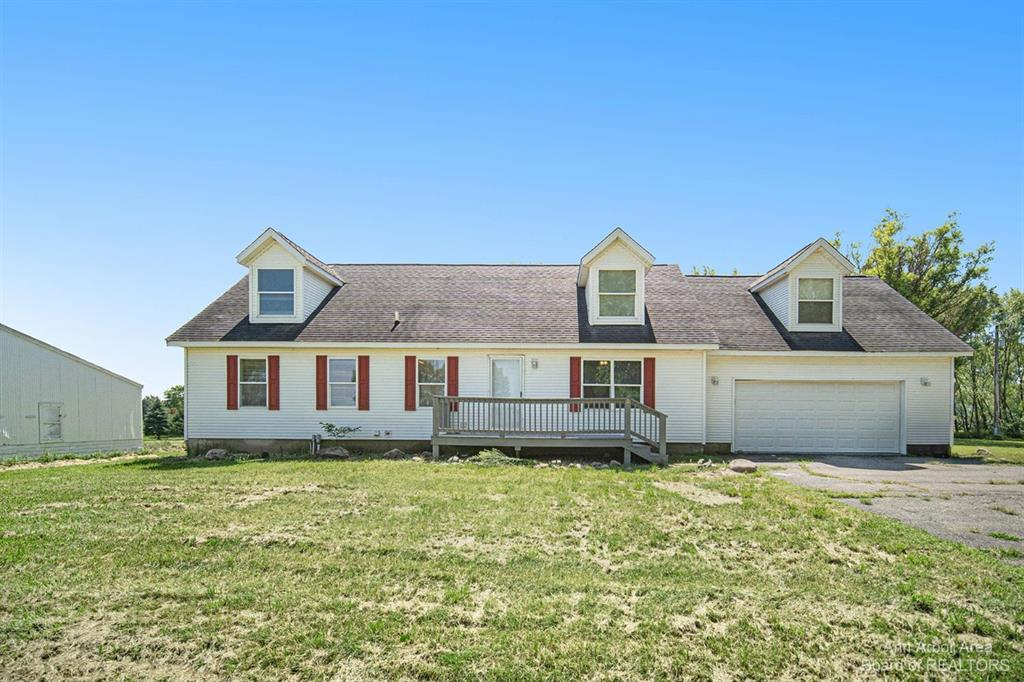 Attention horse & country lovers!! This 2002 built cape features a ton of square footage for the money and 10.64 acres with fences pasture and 30 x 40 horse run in and shed, stamped concrete patio, 9' ceilings in an unfinished basement, 2-car attached garage, upper level has 2 bedrooms and 3rd bath, also plumbed for kitchen or additional bathroom.