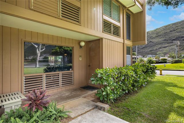 Haleloa 1 is a lovely townhouse complex in the heart of Kuliouou valley. This 2 story, 3BD, 2.5BA unit has ample room, with living/dining/kitchen area on first floor, and all BDs on second floor. Covered carport for 2 cars and a nice outdoor patio space for a little herb garden, potted plants, and weekend BBQs. Expansive green space flanks the property and the complex has a pool! Neighborhood is close to Hawaii Kai and Aina Haina shopping, plus Kuliouou Neighborhood Park, Kuliouou Beach Park, and Maunalua Bay. While close to town/shopping/recreation, the complex is nestled towards the mountains which makes for a serene and peaceful place to call home. The unit is ready for your personal touches/upgrades to make it your own! Complex is pet-friendly  (buyer-verify).