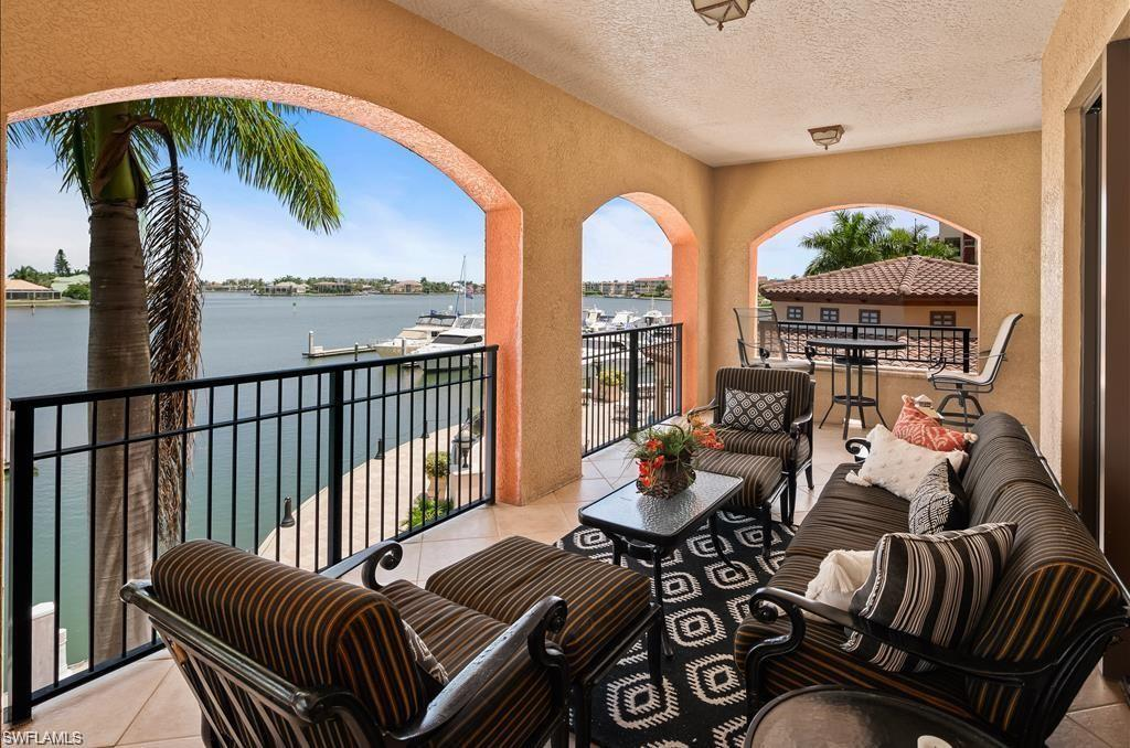 This spacious and beautifully decorated unit offers luxury and convenience both inside and out. Your private wrap-around lanai offers unobstructed Smokehouse Bay views with beautiful Marco Island sunsets to enjoy. You can also head downstairs to explore the shops and restaurants within the Island's exclusive Esplanade, or venture up Collier Boulevard to check out Marco's stunning Tigertail and Crescent Beaches. 3 bedrooms and 3 and one half bathrooms with a King size bed in the Master bedroom. Updated fully stocked kitchen with granite countertops and center island bar. Washer and Dryer in unit. Gym and community pool also available.