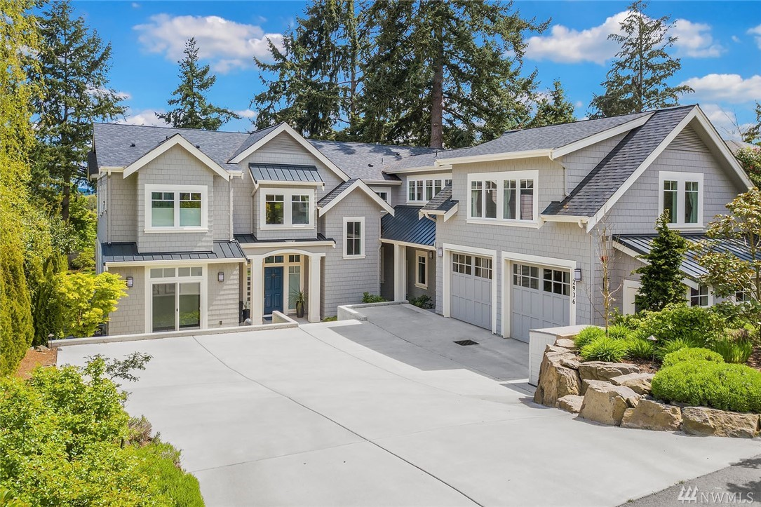 Set in a peaceful neighborhood at the north end of Mercer Island, this custom modern 6bedroom/5bath farmhouse offers space, style and luxury. Its great room layout is ideal for entertaining and everyday living w/a soaring, fireside living area flowing into the dining area and grand kitchen. Step through French doors to the covered patio and expansive, fenced lawn beyond. Stroll to downtown Mercer Island's markets, parks and restaurants from this convenient locale.