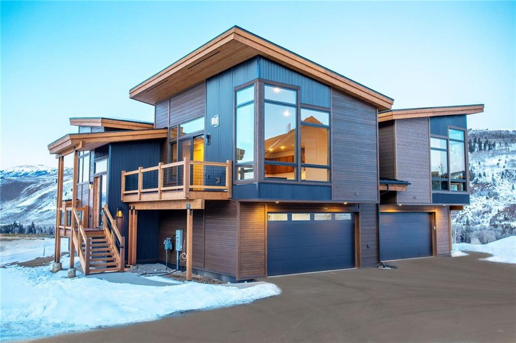 The modern look to the duplex is unique to Summit Sky Ranch, you will not find a home like this in Summit County!