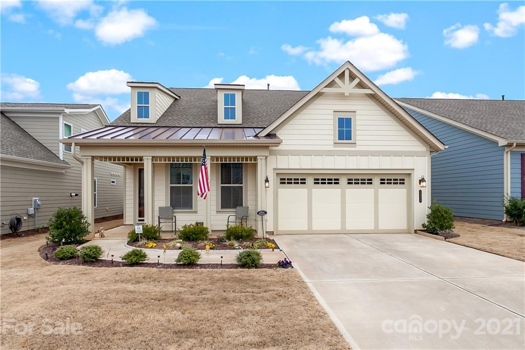 Don't wait to build! This like new move-in ready home has over $30k in upgrades throughout, including screened in porch, extended back patio, large spa shower in master bath, front office/bedroom w/ french doors (no closet), upgraded kitchen cabinets, large pantry, recessed lighting & beautiful countertops. Plan has a split bedroom layout and large, open great room. Cresswind community has planned activities, indoor & outdoor pools, gym, pickle ball & tennis courts, boccie courts & huge clubhouse. Lawn maintenance, security, cable, internet is included.