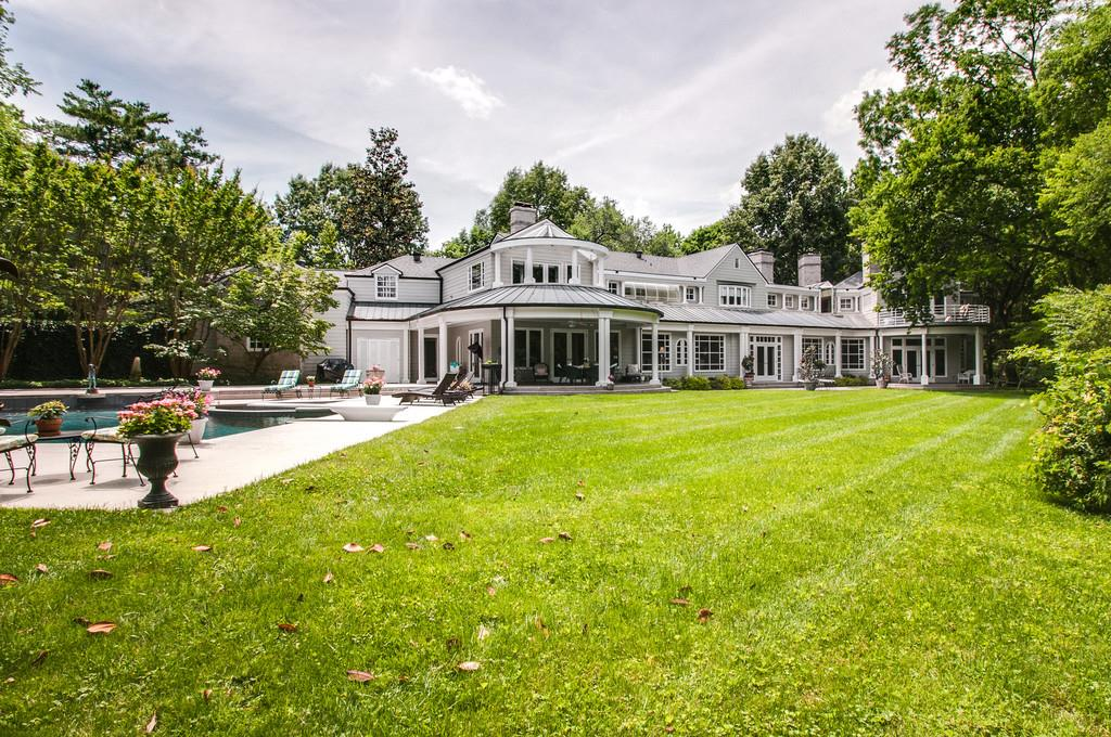 Exquisite Belle Meade Private 3.59 acres Home  Entertaining made perfect with 3 swimming pools, covered patios, and balconies to stimulate ones outdoor dreams. Beautiful millwork throughout, special attention given to architectural detail. New roof 2012.