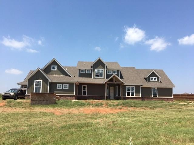 New home under construction. Quiet culdesac street with gated entry with a country feel.  Edmond schools. 1 Acre lot. Bonus room upstairs with bath and bedroom.  Master, study and 2 secondary bedrooms down.  Mud room.  Large utility.   3 car side garage.  Covered front porch and back patio.  It's gorgeous!