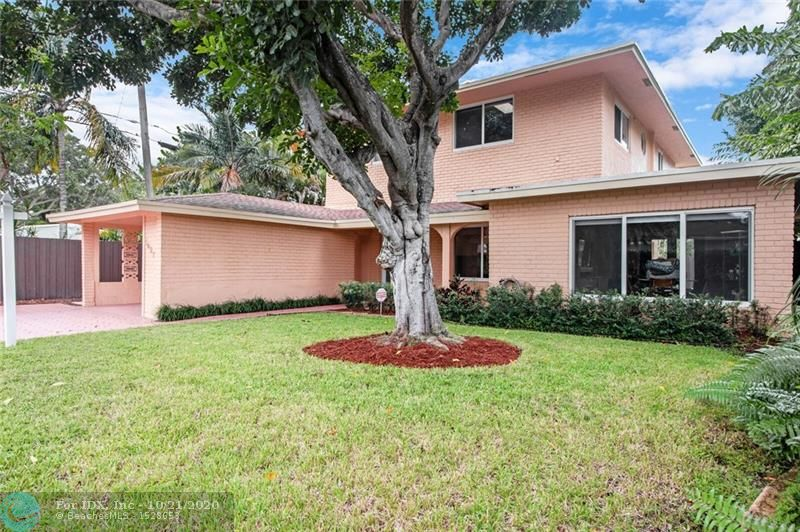Wonderful 2 story home in the Heart of Poinsettia Hts.  One of the most sought after neighborhoods & streets in East Ft. Lauderdale.  Home has been tastefully & substantially updated from 2014 to today.  Light & Bright Open Concept 1st floor including Master Suite downstairs. Additional 1st floor Bonus Room for Gym/Office/Play Room.  Upstairs 2nd Living Room/Loft with 3 additional Bedrooms.  Some of the features include: Updated Kitchen with Breakfast Bar / Newer Baths / Impact Windows & Doors through out / Heated Pool & Large Entertaining Space with Pavers / Huge Fenced Back Yard / Carport & Storage / New Screened Porch / Custom Window Treatments & Closet Build outs / Newer Water Heater / Samsung Washer/Dryer 2015 / Home & Termite Warranty in place / Alarm System. A true MUST SEE...