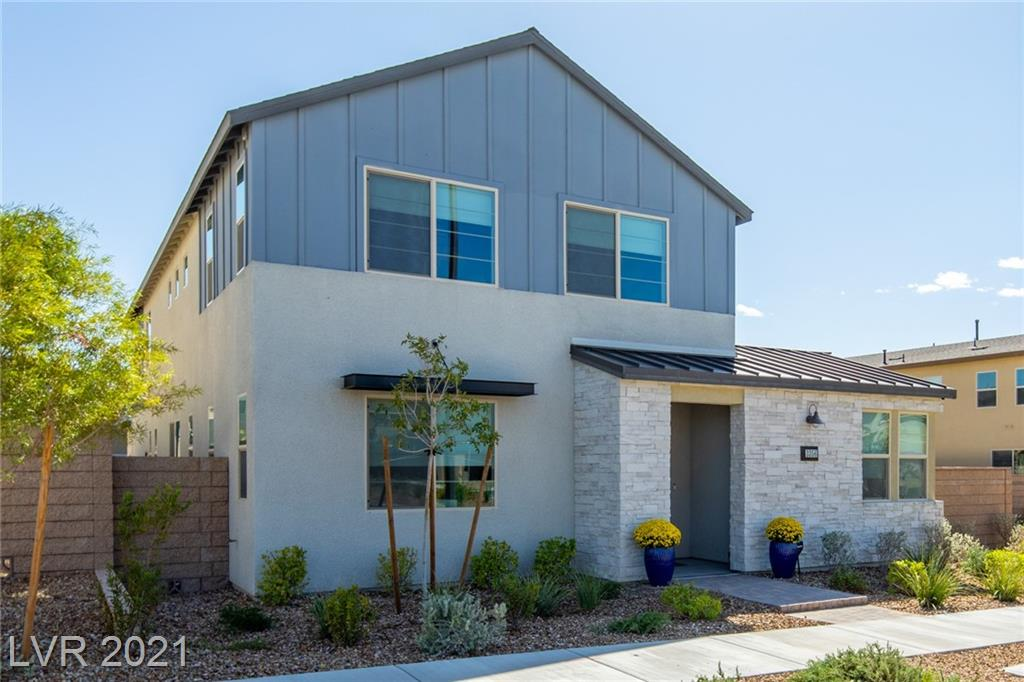 Don't pay the premium of a new build and take advantage of this almost new Inspirada beauty built-in 2018. This highly upgraded home includes a luxury kitchen with additional cabinets and counter space, extended premium vinyl throughout the first floor, and a masterfully completed backyard. Four bedrooms include a secondary bedroom on the first floor with an attached full-bath. The Henderson community of Inspirada features multiple parks, shops, trails, and even the Raiders practice facility!