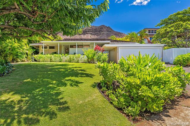 Idyllic Island Charmer with inviting living spaces open to island breezes & tropical gardens. Enjoy outdoor entertaining while watching an amazing display of color on Diamond Head at sunset. Easy access to Kapiolani Park, sandy beaches, dining and more. A RARE opportunity for a lucky Buyer!
