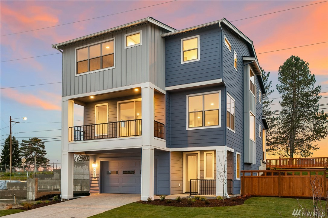 Contemporary, 3-story home in Wind Rose by Conner Homes in the Greenbridge master-planned community. Features attached 2-car garage, Great Room Concept on Main, Kit w/walk-in pantry, granite counters, white soft-close cabs, large Din & Liv Room area with gas FP & large deck plus bedroom & 3/4 bath. Upstairs spacious Master w/large bath & W/I closet, 2 more beds, full bath, loft & laundry room. Landscaped with fenced rear yard & covered patio. Close to Seattle & SEATAC. Est Jan 2021 Completion.