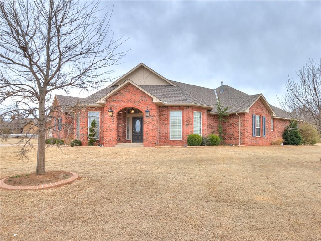 Looking for a beautiful home on an acreage in Award Winning Deer Creek Schools? This is it!! Stunning single owner home in tranquil, gated Southerly Farms addition!! Featuring over 3/4ths of an acre in a cul-de-sac! Country setting, yet close to schools, restaurants, shopping and highways! This meticulously cared for home is a true 3 bedroom with a study, an eat in kitchen as well as a formal dining room!  The huge kitchen has a large walk in pantry, island and an enormous amount of granite counter tops! The living room is inviting with floor to ceiling brick fireplace and ready for your beautiful furniture! Such an open and bright space for comfortable living!! The large master suite boasts of large walk in closet, whirlpool tub, separate shower and double vanities!  The guest bedrooms are spacious with large closets and a jack and jill bath! You will love making memories in this home!