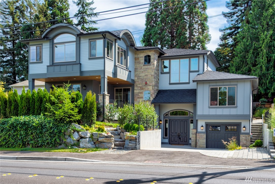 Absolute showstopper w/highest level of custom finishes imaginable! Minutes to I-90&Light Rail&DT amenities. Gorgeous views of LK&DT Bellvu. Classic Chateau style meets NW Rustic Contemp.Formal Foyer boasting vaulted ceiling leads u to Great rm on main flr w/10'ceiling. Chefs kitchen w/center isld&nk,formal dining open 2 covered deck. 5 bedrm ensuite, Master suite w/LK view,Guest suite w/french dr adjacent to coveted patio, Media rm & Elevator.3-car garage w/circular dr.way. Huge private backyd!