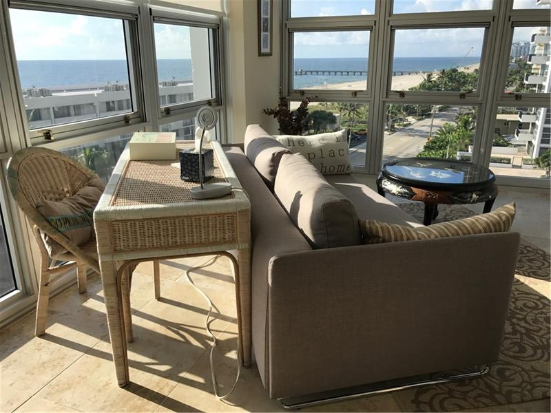 ENJOY THE OCEAN VIEWS FROM EVERY ROOM IN THIS RARELY AVAILABLE SOUTHEAST 9TH FLOOR CORNER CONDO WITH FLOOR TO CEILING IMPACT WINDOWS. 14 UNITS IN THE STACK, ONLY 2 HAVE CHANGED OWNERS SINCE 2016. UNOBSTRUCTED INCREDIBLE OCEANFRONT VIEWS, BALCONY FACES EAST. NEW FISHING PIER, RESTRUANTS AND SHOPS ARE ALL WITHIN WALKING DISTANCE. REMODELED, TILE FLOORING THROUGHOUT UNIT, SMOOTH CEILINGS, NO WALLPAPER, SS APPLIANCES, GRANITE COUNTERS, ELFA MASTER BEDROOM CLOSET, SOLAR SHADES AND 1 GARAGE SPACE. SECOND BEDROOM IS OPEN TO MAIN LIVING AREA AND IS CURRENTLY BEING USED AS A HOME OFFICE GUEST AREA WITH THE SECOND BATH . POOL, TENNIS COURT & PICKLE BALL COURTS AND NEW ENTRY TO BLDG HAVE JUST BEEN COMPLETED. ATTENTIVE FRIENDLY PROFESSIONAL FRONT DESK & STAFF. PROPERTY MGMT ON SITE. A MUST SEE CONDO!