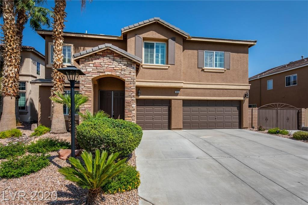 Premium home site behind the gates of Suncrest Trail offering flexibility suiting many needs including large RV parking area with gate and an extended driveway. Enter through the double 8-foot entry door and notice the sight lines to the backyard oasis. Kitchen features granite, extended island, organized pantry, and double oven range. Kitchen and family room flow together nicely creating a perfect space to relax or entertain. Family room highlighted by surround sound, ceiling fan, and bright windows allowing natural light to pour in. Second floor is home to a large loft bonus room with balcony. Master suite treated with two custom closets and a spa inspired master bathroom. Upgrades include stone pattern tile, designer paint, shutters, and crown molding. You will fall in love with the outdoor living with a lagoon style pool with rock formations, bubbling brook, relaxing spa, covered patio, sun patio, paver stones, and beautiful grounds. Enhanced privacy thanks to no rear neighbors.