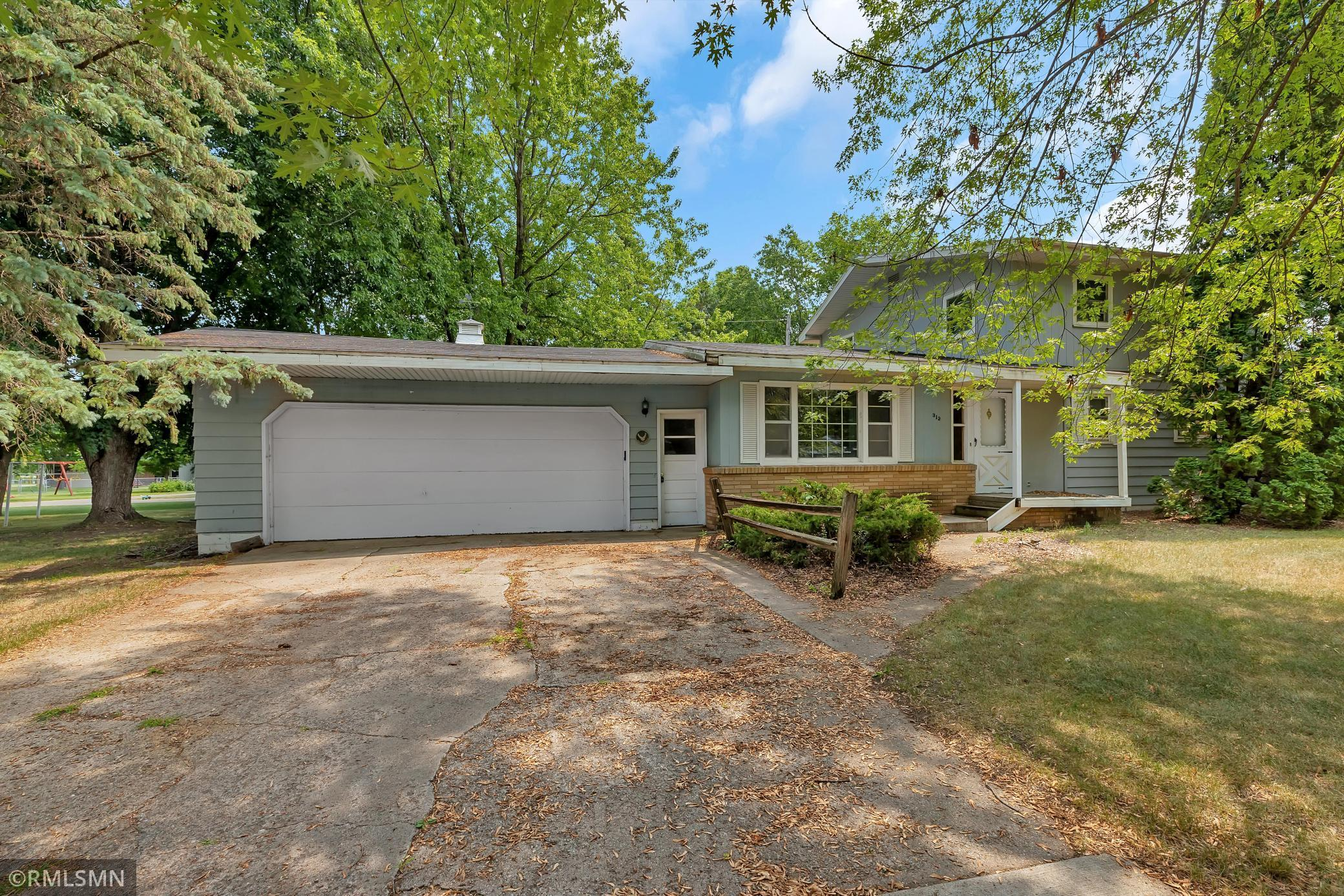 Handyman special, many big ticket items already updated. Furnace and A/C in 2019, water heater in 2017, roof 7 yrs old.  2 main floor bedrooms including one with master bath. 2 large upper level bedrooms. Lower level has large family room including wood burning fireplace and potential 3/4 bath. Nice quiet neighborhood on cul-de-sac very near Rocori trail and Cold Spring Baseball Park