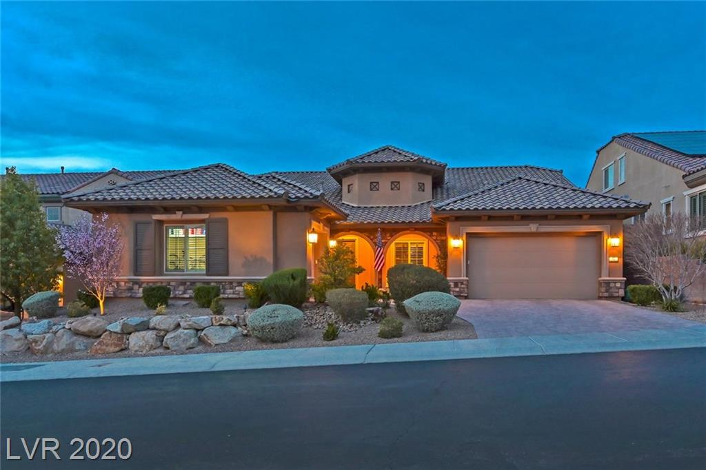 Backyard paradise w/fireplace, covered patio, lush landscape. 4 beds + office + loft. Greatroom w/wetbar, wine fridge & sliding glass wall to outdoors. Kit w/SS appliances, double ovens, granite counters, backsplash, 2 walk-in pantries. Master down w/walk-in closet, sep tub & shower. 2 beds down w/walk-in closets & jack & jill bath. Upstairs gameroom/loft w/surround sound & large bed & full bath. Plantation shutters, 12x24 tile floors & more!