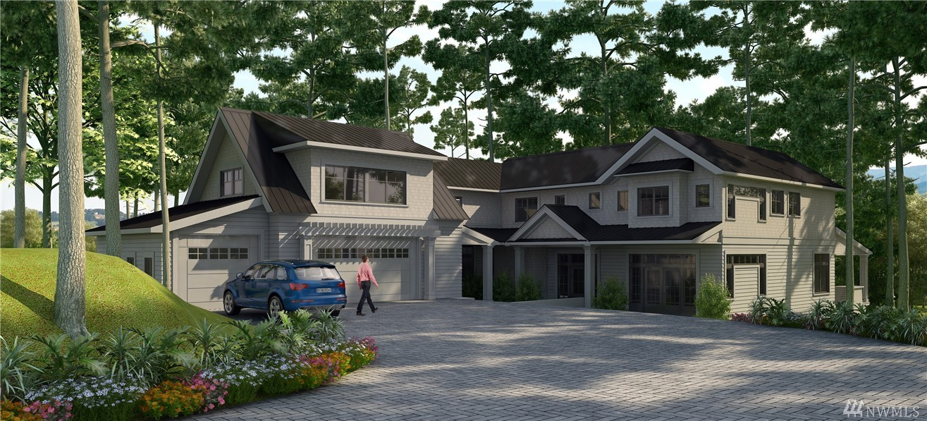 RKK Construction continues their legacy of thoughtful design with this East Coast inspired home.  A serene, tree-lined drive leads you to the property & its magical setting, on over an 1/2 acre lot w/gorgeous natural landscape & idyllic views of the Lake & City.  Wide-open, great room design has fold & stack glass walls that open to invite the outside in.  Covered/heated porches, fireplace.  10 foot ceilings, metal roof, shingle, wide-plank hrdwd floors. Separate MIL guest suite. A Showstopper