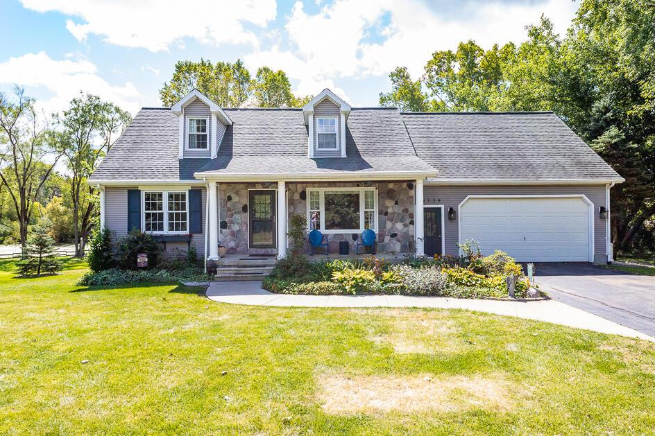 If you are looking for the magical wow factor, here it is! Perched on the shores of Mercedes Lake your Cape Cod home offers awesome curb appeal, sweet front porch, fenced in back yard, gazebo, fire pit, sprawling deck, patio and incredible he/she shed! Inside you will love the main floor with primary suite, large office with 1/2 bath on-suite, stylish kitchen, breakfast nook, dining room, gracious living room with hardwoods & wood burner. Upstairs there are 2 huge bedrooms, a full bath AND A SECRET ROOM (280 sq.ft. of private finished space!) The expansive walk out level is the ultimate flex space, think theater, workout, rec or family room! The private, park-like setting is the perfect backdrop for a lifetime of memories in your new house. Welcome home to 4359 Springbrook Lane!