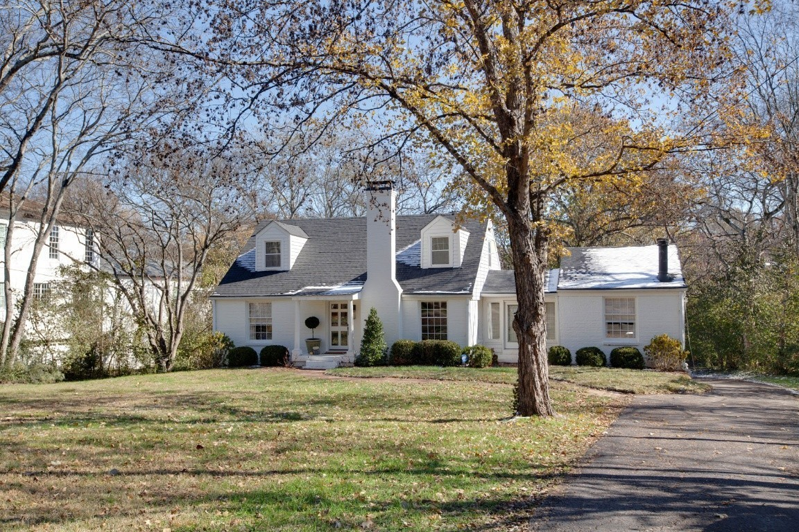 Precious Belle Meade cottage on large estate lot(105x350).Move in As-Is, add an addition or build new home.Lot approved for over 7,900 sq ft home with pool.Newer roof, Hvac, plumbing, electrical, hot water heater, hardwoods refinished, brand new kitchen w/ stainless appliances, custom cabinetry & quartz.Master has usable wood burning fireplace.Upstairs contains 564 sq ft with half bath and 2 closets. 1,400 sq ft unfinished basement/garage.Sought after Julia Green School District.