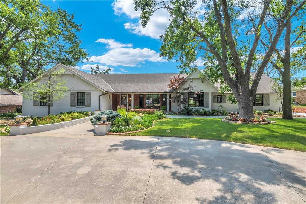 Located in one of OKC's most desirable neighborhoods, this beautiful home is as wonderfully unique as it is welcoming. On Grand Blvd, this 5,355 square foot home with guest house is ready for you to call home. Sophisticated, warm and recently-and-meticulously renovated, the property is two homes.(Main house with 4 bed, 4 1/2 bath, and 2 car garage)  The main house with two living areas, seamlessly united to create a singular vision of comfort, ideal for entertaining and hosting the entire family. The kitchen with a large island, 4 burner gas range, double ovens and Butler's pantry with ice maker and wine refrigerator. The focal point of the master suite is the beautiful view to the oasis of backyard and lovely sitting area.  The spa like masterbath with walk in steam shower, 2 walk in master closets, and soaker tub will inspire you to never leave.  Each of the 3 guest rooms have their own full bath.  Then an updated guest house with a full kitchen, 2 bedroom, full bath and 1 car garage